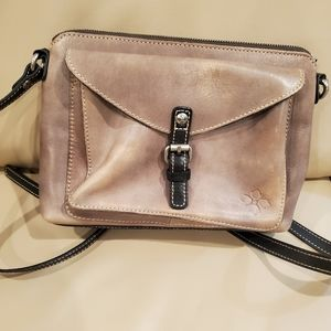 Patricia Nash Gray Avellino Leather Crossbody Bag